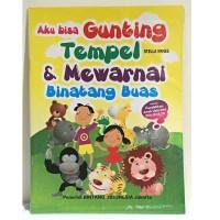 Buku Aktifitas Gunting Tempel Mewarnai Binatang Buas / Buku Aktifitas