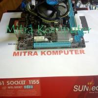 Mainboard Motherboard Mobo Suntech H61 1155 + intel core i3-2120 tray