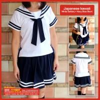Seifuku White Sailor Top & Navy Blue Skort