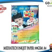 kertas printer Inkjet Paper 108 gsm A3 (pack 50) Mediatech