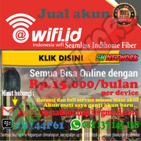 @Wifi.id Seamless Indihome Fiber Unlimited ( Akun wifi id )