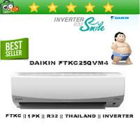 AC SPLIT DAIKIN 1 PK 1PK R32 THAILAND INVERTER - FTKC25QVM4