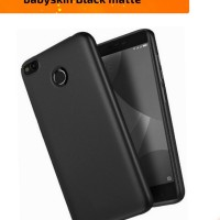 Soft case doff black mate Xiaomi Redmi 4X softcase casing Baby Skin 4x
