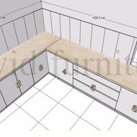 DP Kitchen Set kabinet bawah 5m + marmer