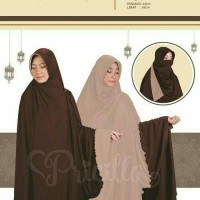 jilbab kerudung instan bolak balik double warna dua warna