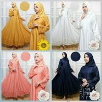 maxi baloteli emboss karina set hijab 2in1 good quality