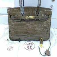 Tas Hermes Birkin mewah kualitas Mirror kulit sapi asli import