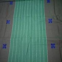 Jual Sarung Gajah Duduk Songket Hijau Polos Murah