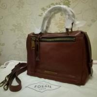 Fossil Bella Satchel Small Brown Leather. Tas Fossil Original