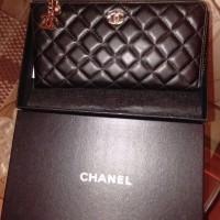 Dompet Chanel mewah asli kulit sapi Import