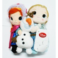 Laris Disney Store Original Frozen Anna , Elsa and Olaf Dolls
