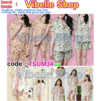 TSUM34xx - Tsum Tsum Vibelle shop grosir baju tidur piyama baby doll