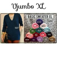 Jual SWEATER XL MODEL KERAH V BAHAN RAJUT Murah