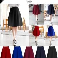 Midi Flare Skirt /Fashion Wanita / Rok Cewek / Rok Bahan Pendek