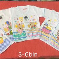 3Pcs Motif Campur Baju Bayi COSTLY KATUN Halus 3-12bln / baju bayi