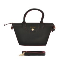 AUTHENTIC LONGCHAMP LE PLIAGE HERITAGE SMALL - BLACK RED