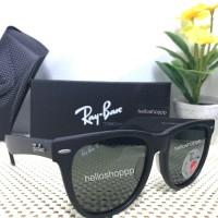 Kacamata Ray Ban Wayfarer 2140 Black Doff Polarized lensa besar 54