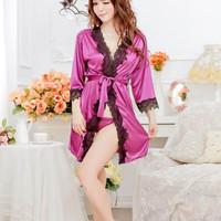 Jual Lingerie Sexy Murah Kimono Bathrobe Satin Murah