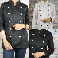 Baju Chef Klasik Lengan Panjang untuk Wanita