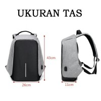 Jual TAS ANTI MALING RANSEL PRIA IMPORT SMART BACKPACK BODYPACK THEFT USB Murah