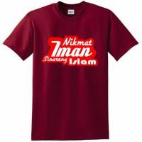 Tshirt Merah Maroon - Nikmat Iman Sinareng Islam - KG13 STORE