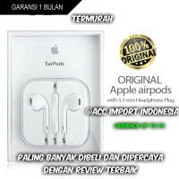 Jual Headset Handsfree Earphone Earpod iPhone 5 5s 6 6s 6+ Original 100% Murah
