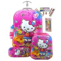 Harga best seller trolley 3in1 set 6 roda gagang samurai hello kitty 6d | Pembandingharga.com