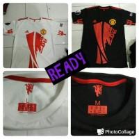 Jual Ready Stock Kaos Combed 30s Manchester United MU UEL Champion Murah