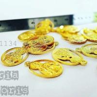 Bahan Aksesoris CHARM GOLD MOTIF BUDHA Kode: 01134