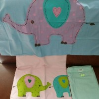 Jual seprei set anak single READY STOCK ... Elephant uk.100x200x20 Murah