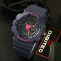 Jam Tangan Wanita Digitec Original DG-2063 Purple List Pink
