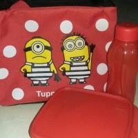 Jual glitter eco lolly set merah dan tas minion merah Murah