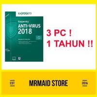 Kaspersky Antivirus 2018 3 PC 1 Tahun