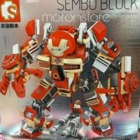 BEST Brick Lego Sembo 60001 MK16 Hulkbuster 339 Pcs MURAH