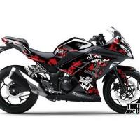 Decal Sticker Modifikasi Kawasaki Ninja 250 Fi Hitam - Grafitti