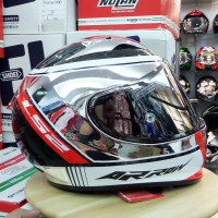 Helm LS2 FF323 Arrow C Evo Indy Carbon Chrome + Visor Iridium
