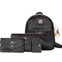 TAS RANSEL SELEMPANG CLUTCH IMPORT BLACK 4IN1 MURAH WANITA FASHION