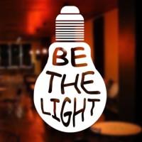 Stiker Be The Light Dinding Kaca Pintu Kamar tembok Cafe Sticker