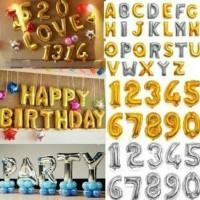 balon foil huruf dan angka(pink,biru,silver,gold)