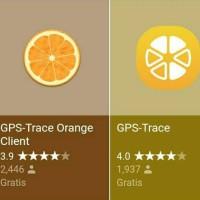 Aplikasi Orange GPS Trace Dengan Peta GOOGLE