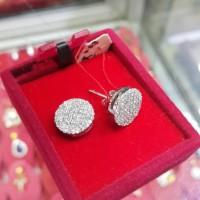 Terbaru Anting Emas Putih Full Berlian Eropa