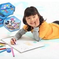 4 In 1 Crayon Stationary Set 46 Pc Alat Menggambar Pensil Warna Cat