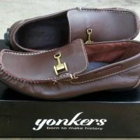 Jual Sepatu Slipon Casual Formal Kulit asli Yonkers original kickers Murah
