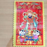 Gambar 3D Imlek, Chinese Ornamen, Dewa Chai Shen (Dewa Uang) HOKI