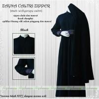 gamis Zaina by hijabuna warna hitam dan mauve