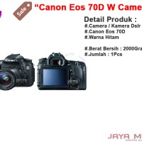 Canon Eos 70D W + Kit Ef-S 18-200 Is Jm Camera / Kamera Dlsr (Ori)
