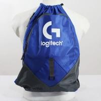 Tas Serut PULL BAG LOGITECH| Tas Ransel Sekolah Backpack Dota 2 CSGO