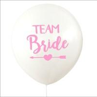 Baloon Balon Wedding Bridal Shower Bride To Be - WHITE PINK