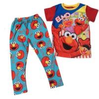 (B01393AIL2) 2in1 Elmo Ailubee Setelan Baju Celana Anak Laki-laki