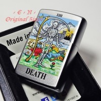 Zippo Tarot Card Death XIII Silver 6425 Lighter Original Korek Api USA